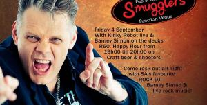 Barney Simon's Rock On app launch with Kinky Robot